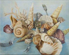 Maria Albin, , The Feast, 2008, Oil On Canvas, 80 X 100