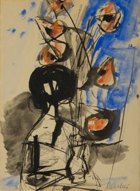 Zygmunt Jozef Menkes (1896 - 1986) Woman With Poppies,