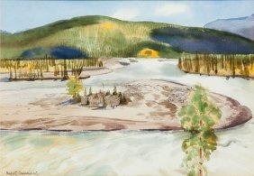 Rafal Malczewski (1892 - 1965) Landscape, Watercolour