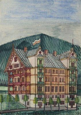 Nikifor Krynicki (1895 - 1968) House In Krynica,