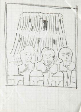 Jan Lebenstein (1930 - 1999) Untitled, Pencil On Paper,