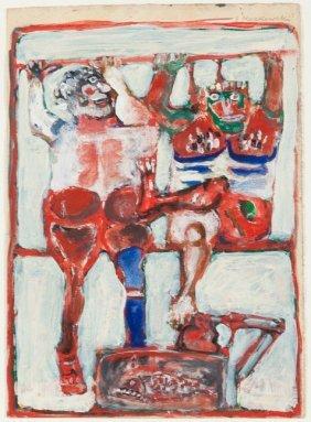 Eugeniusz Markowski (1912 - 2007) On The Carpet-hanger,