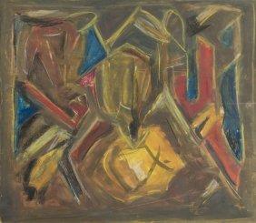 Boguslaw Szwacz (1912 - 2009) Composition, 1956, Gauche
