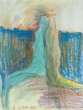 Alicja Wahl (b. 1932) Untitled, 1986, Crayon, Ink On