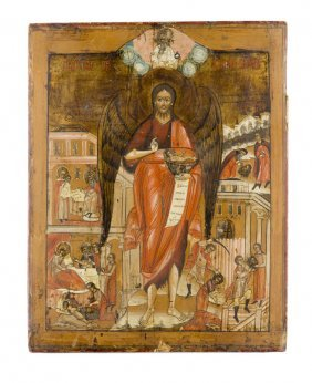John The Baptist And Scenes From His Life, Icon,