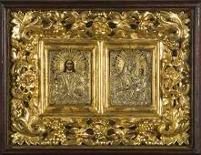 A Russian weeding icons of the Tihvinskaya Mother of