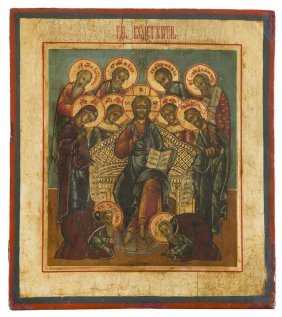 A Deesis, Icon, Russia, Mid-19th Century, Tempera On