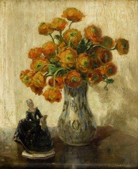 Wilhelm Blanke (1873 - 1943), Still Life With Flowers