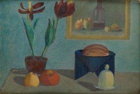 Leonard Pekalski (1896 - 1944), Still Life, Oil Carton,