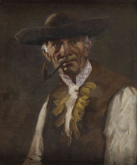 Unknown Artist, 20th Century, Portrait Of A Goral, Oil