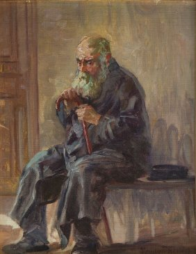 Maurycy Trebacz (1861 - 1941), An Old Man , Oil On