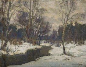 Stefan Domaradzki (1897 - 1983), Winter Landscape,