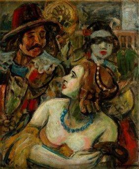 Henryk Langerman (1896 - 1944), Carnival, Oil On