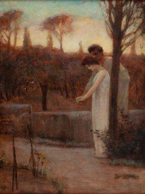 Jan Styka (1858 - 1925), Vinicius And Ligia In Garden