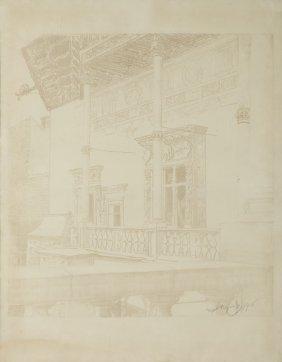Leon Wyczolkowski (1852 - 1936) Wawel'a Cloister, 1916,