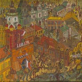 """Edward Dwurnik (b. 1943) """"lublin"""", 1975; Oil On Canvas,"""