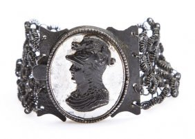Cast Iron Bracelet, 1810-1840; Cast Iron, Decorated