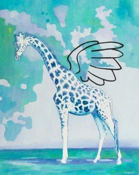 Katarzyna Misiorska (b. 1987), Giraffe, 2015, Oil On