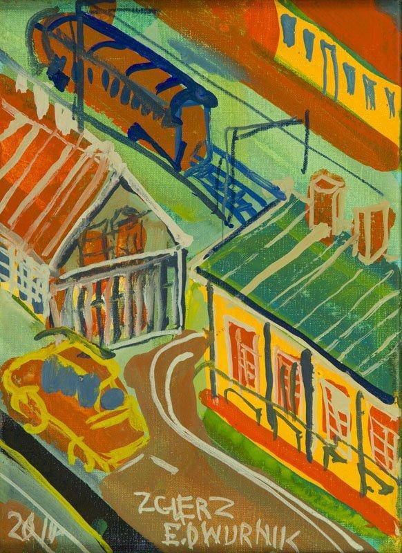 """Edward Dwurnik (b. 1943) """"Zgierz"""", 2014; oil on canvas,"""