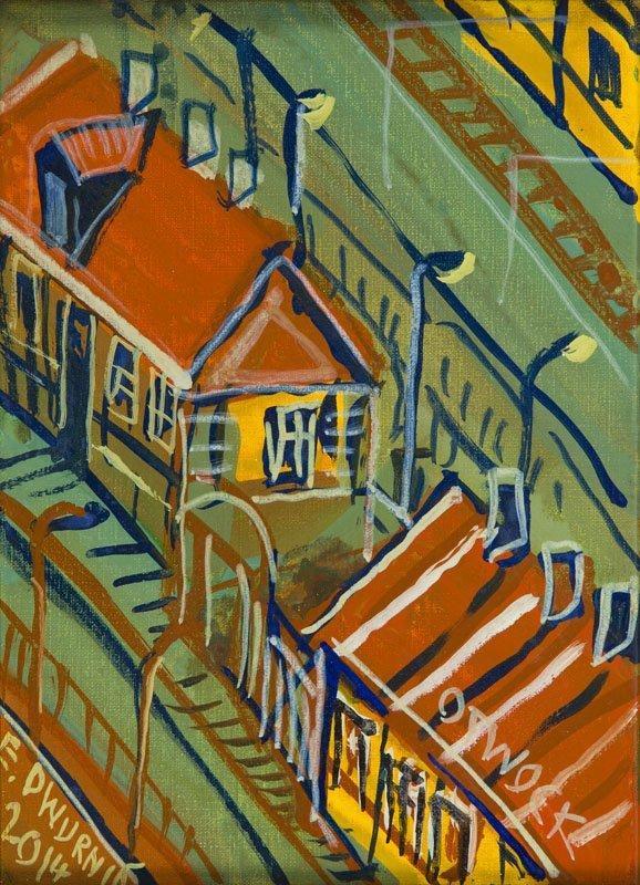 """Edward Dwurnik (b. 1943) """"Otwock"""", 2014; oil on canvas,"""
