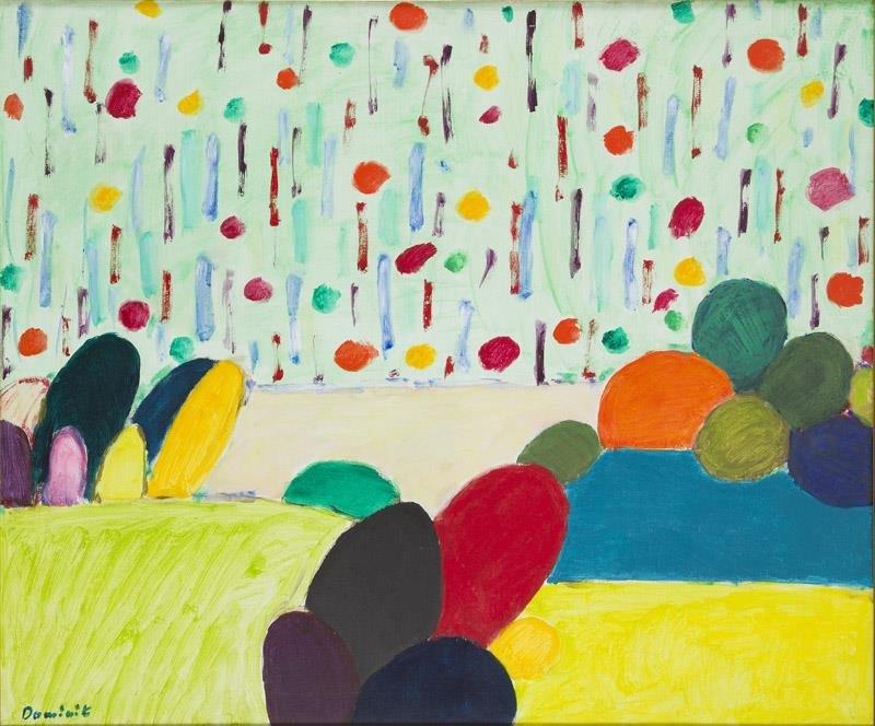 "Tadeusz Dominik (1928 - 2014) ""A Garden"", 1991; acrylic"