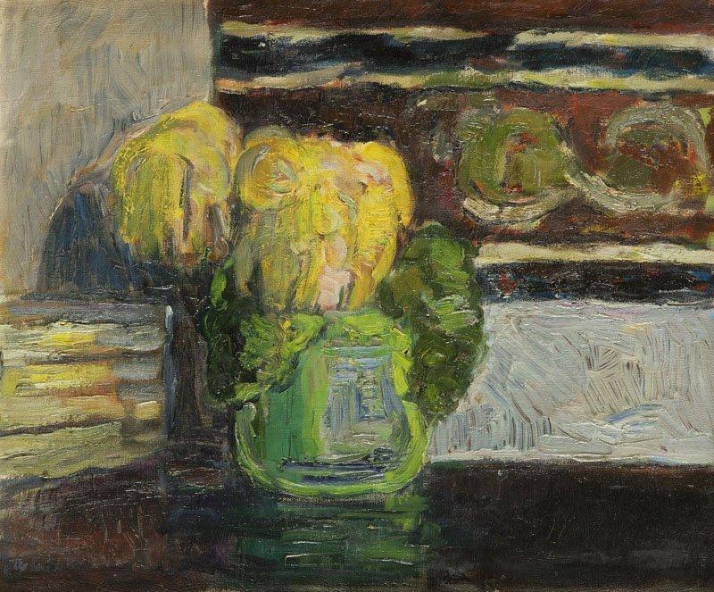 """Tadeusz Dominik (1928 - 2014) """"A Flower"""", 1955; oil on"""