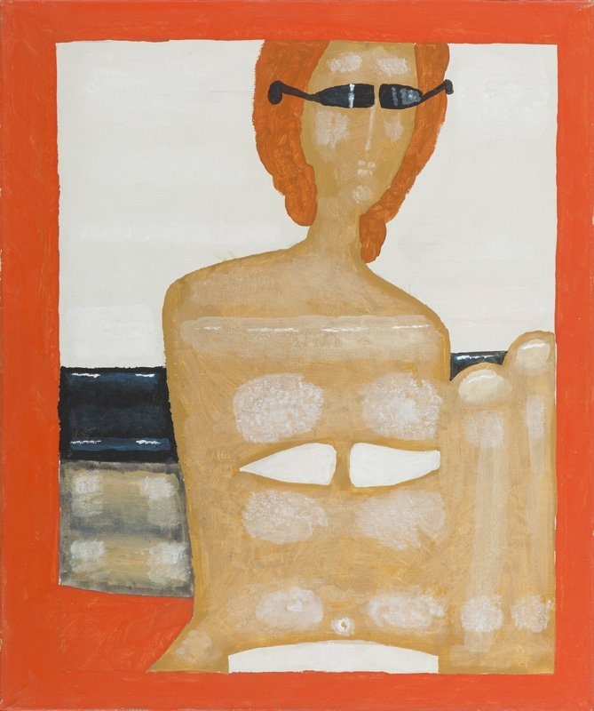 Jerzy Nowosielski (1923 - 2011) A Swimmer, 1991; oil on