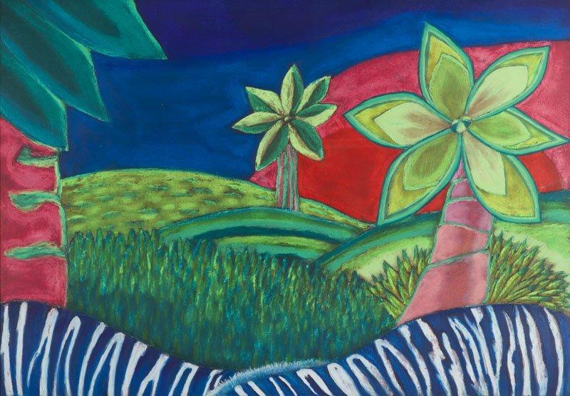 Bogna Czechowska (b. 1962) Palm Trees, 2008; pastel on