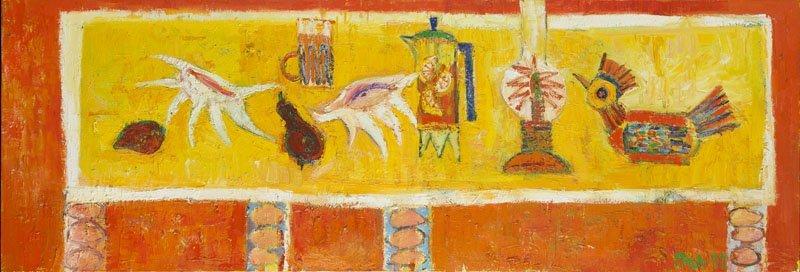 Dariusz Pala (b. 1967) A Table, 1999; oil on