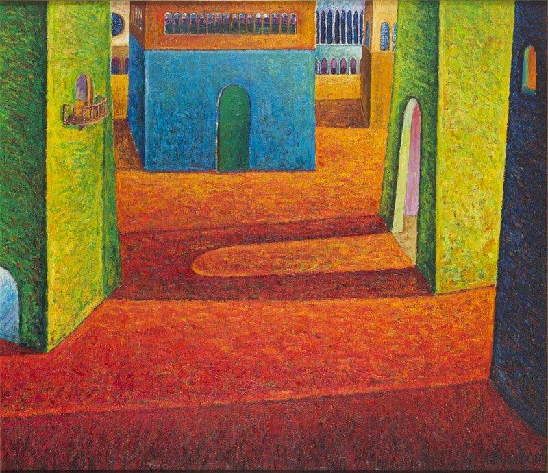 Adam Patrzyk (b. 1965) Italia, 1995; oil on canvas, 130
