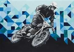Zuzanna Jankowska (b. 1991) Motorcyclist, 2015, acrylic