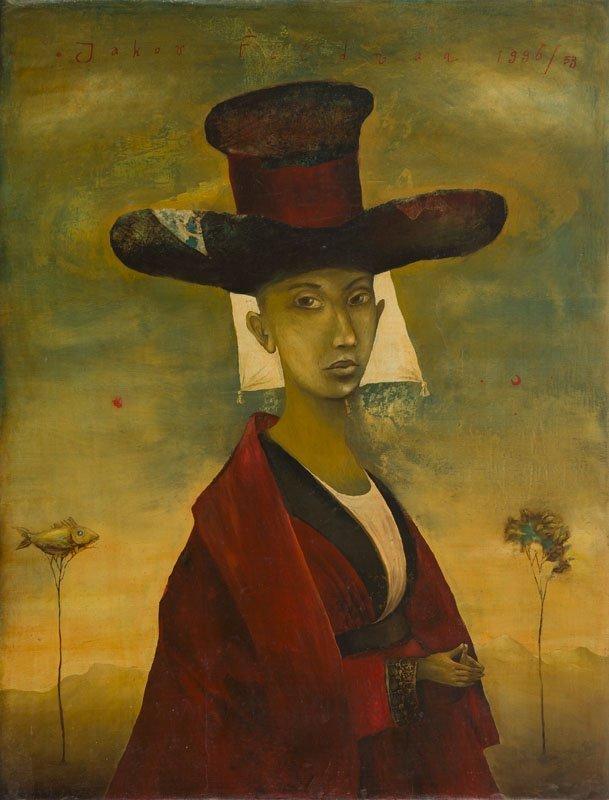 Yakov Feldman (b. 1969) A Person in Hat, 1996; tempera