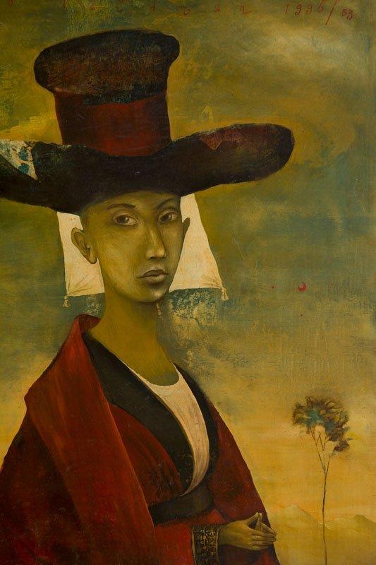 Yakov Feldman (b. 1969) A Person in Hat, 1996; tempera - 6