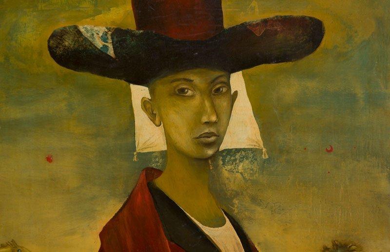 Yakov Feldman (b. 1969) A Person in Hat, 1996; tempera - 7