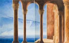 Marta Bilecka (b. 1975) Atlantis Temple, diptych, 2016,