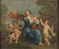 Unknown painter, 18th century, Allegory of Hope, oil on