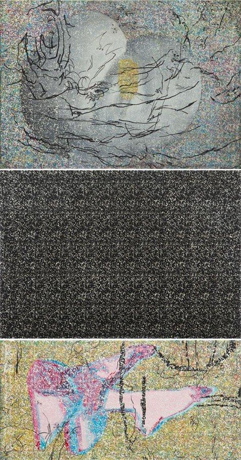 Milosz Szatkowski, (b. 1992), Real Kanojo, triptych,