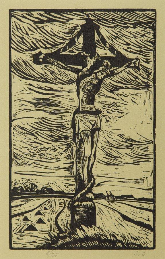 Stanislaw Czajkowski (1878 - 1954), Christ Crucified,