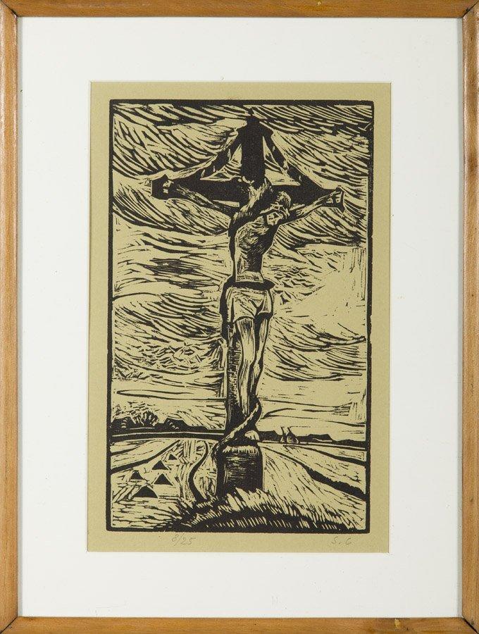 Stanislaw Czajkowski (1878 - 1954), Christ Crucified, - 4