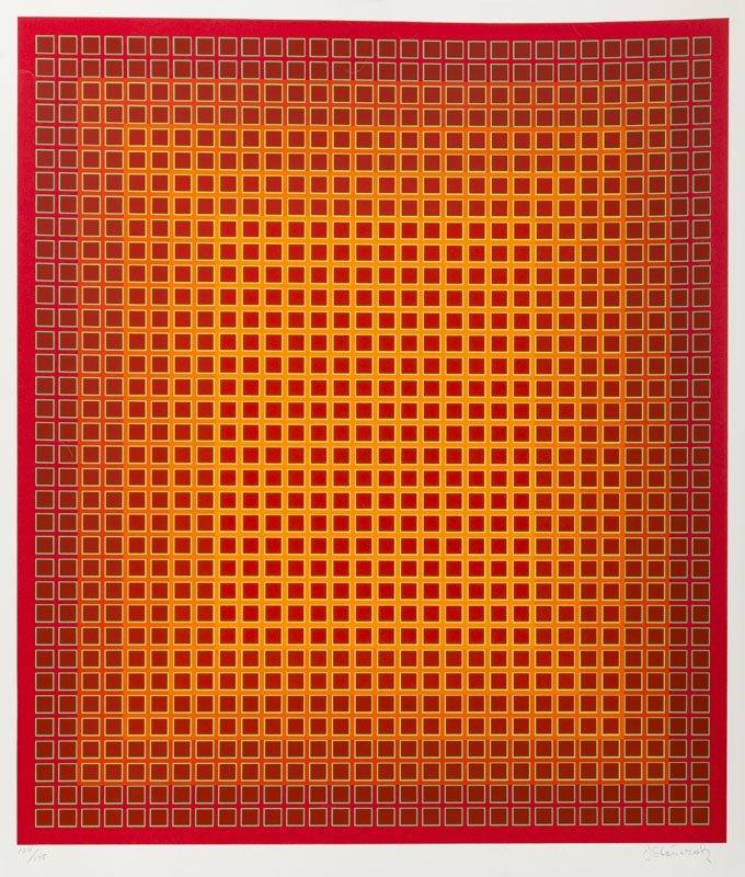 Julian Stanczak(b. 1928), Sequential Chroma, 1979,
