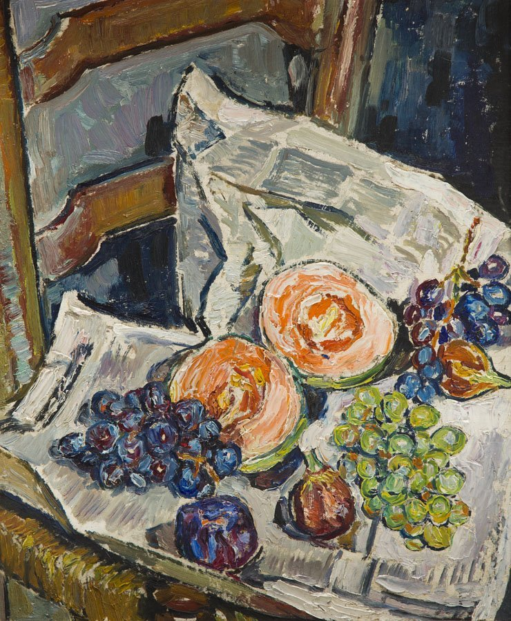 Mela Muter (1876 - 1967), Still Life with Melon and