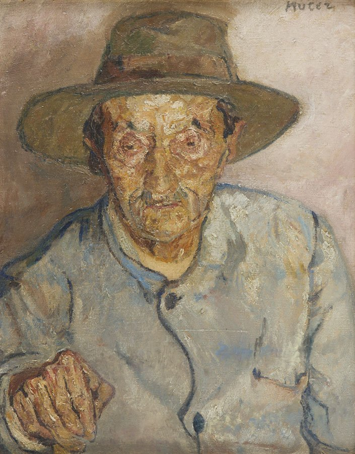 Mela Muter (1876 - 1967), Portrait of a Man in a Hat,