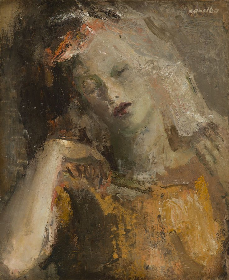 Rajmund Kanelba (1897 - 1960), Portrait of a Woman, oil