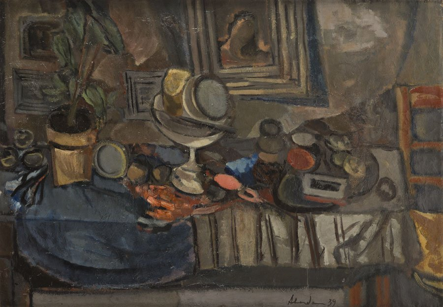 Alfred Aberdam (1894 - 1963), Still Life, 1939, oil on