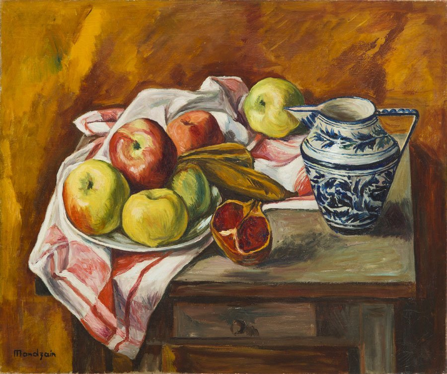 Szymon Mondzain (1890 - 1979), Still Life with Fruits,