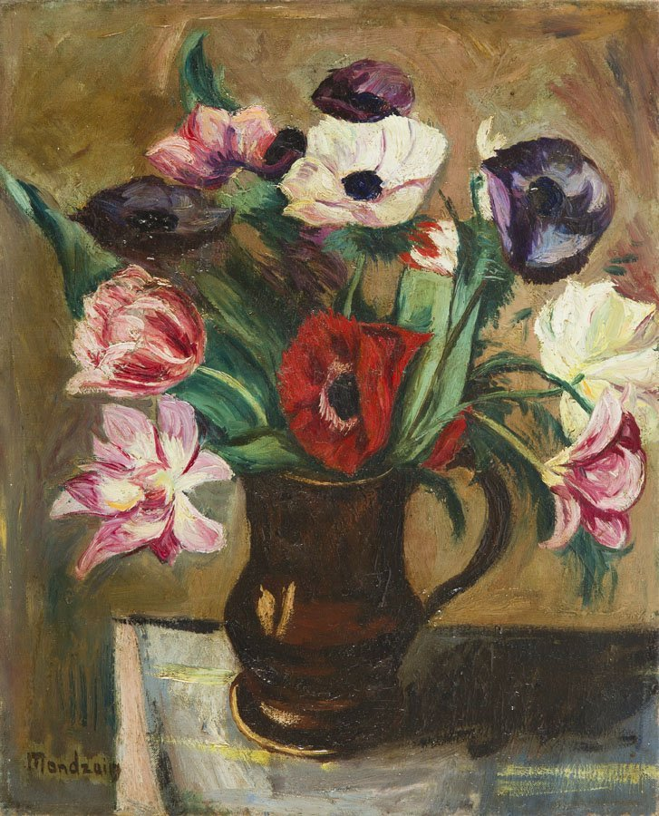 Szymon Mondzain (1890 - 1979), Flower Bouquet in a