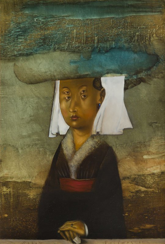 Yakov Feldman, (b. 1969), Portrait of a Woman, 1997 oil