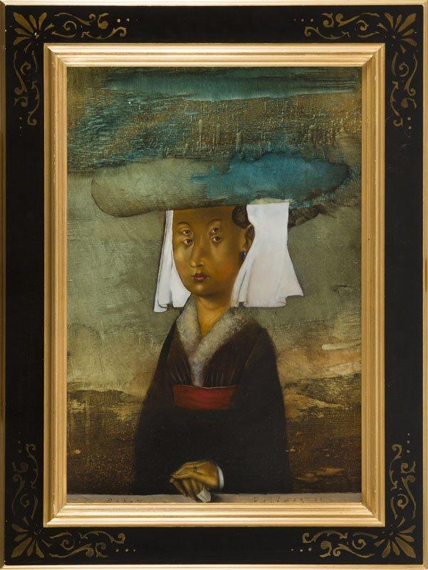 Yakov Feldman, (b. 1969), Portrait of a Woman, 1997 oil - 7