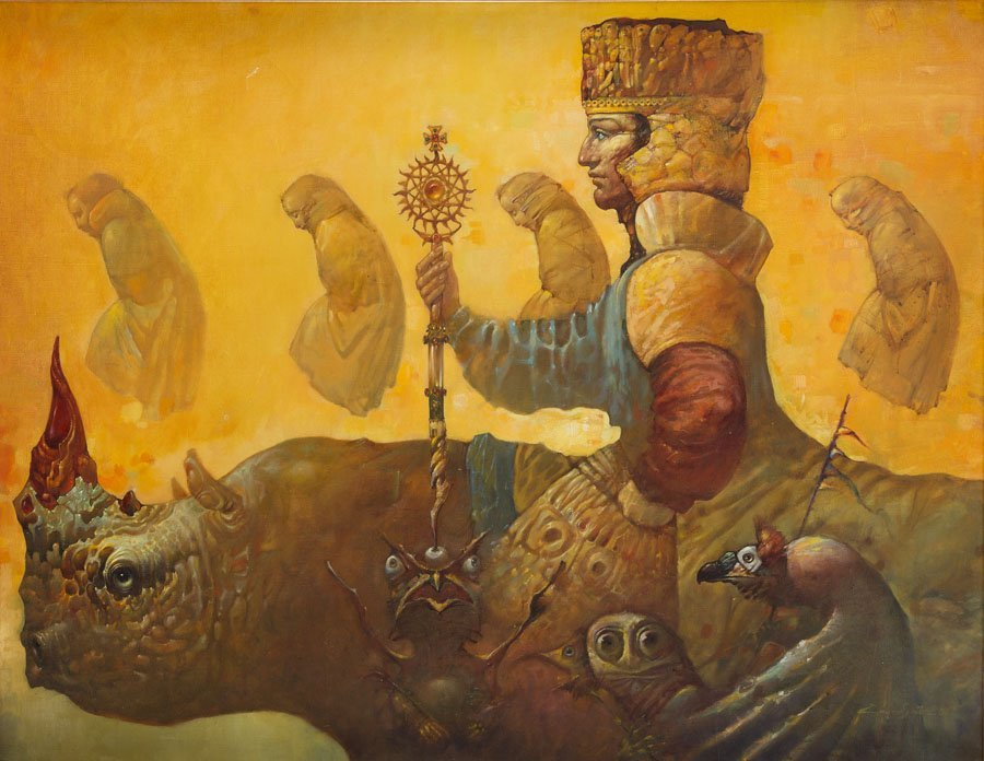 Artavazd Talalyan, (b. 1965), The King I, 2001 oil on