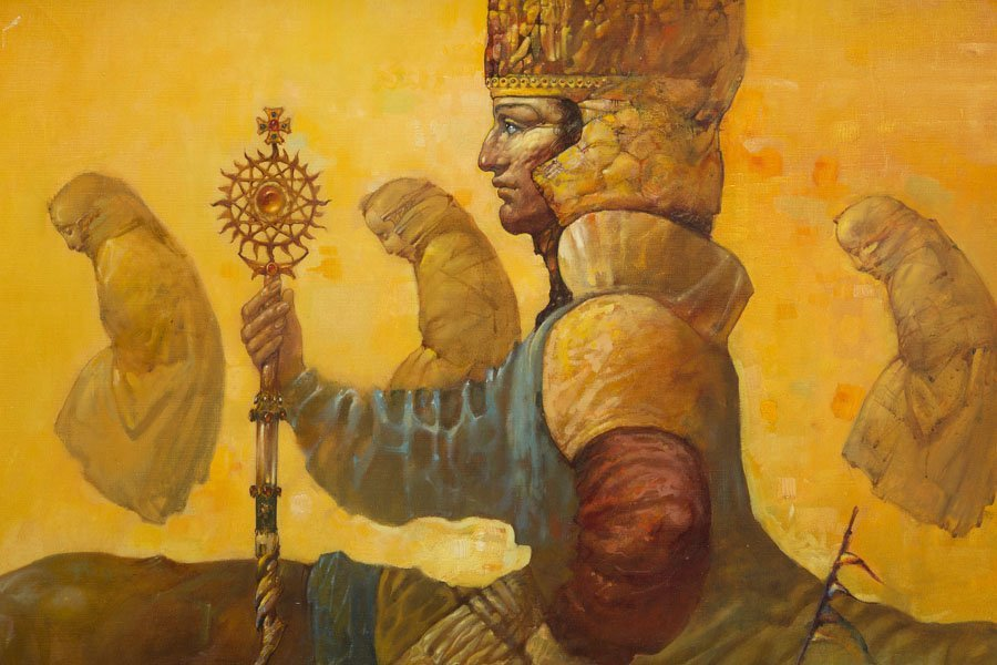 Artavazd Talalyan, (b. 1965), The King I, 2001 oil on - 6
